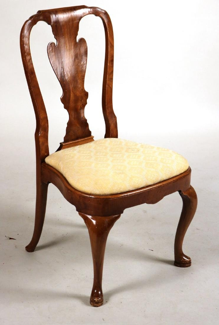 Ten Queen Anne Style Burlwood Dining Chairs - 2