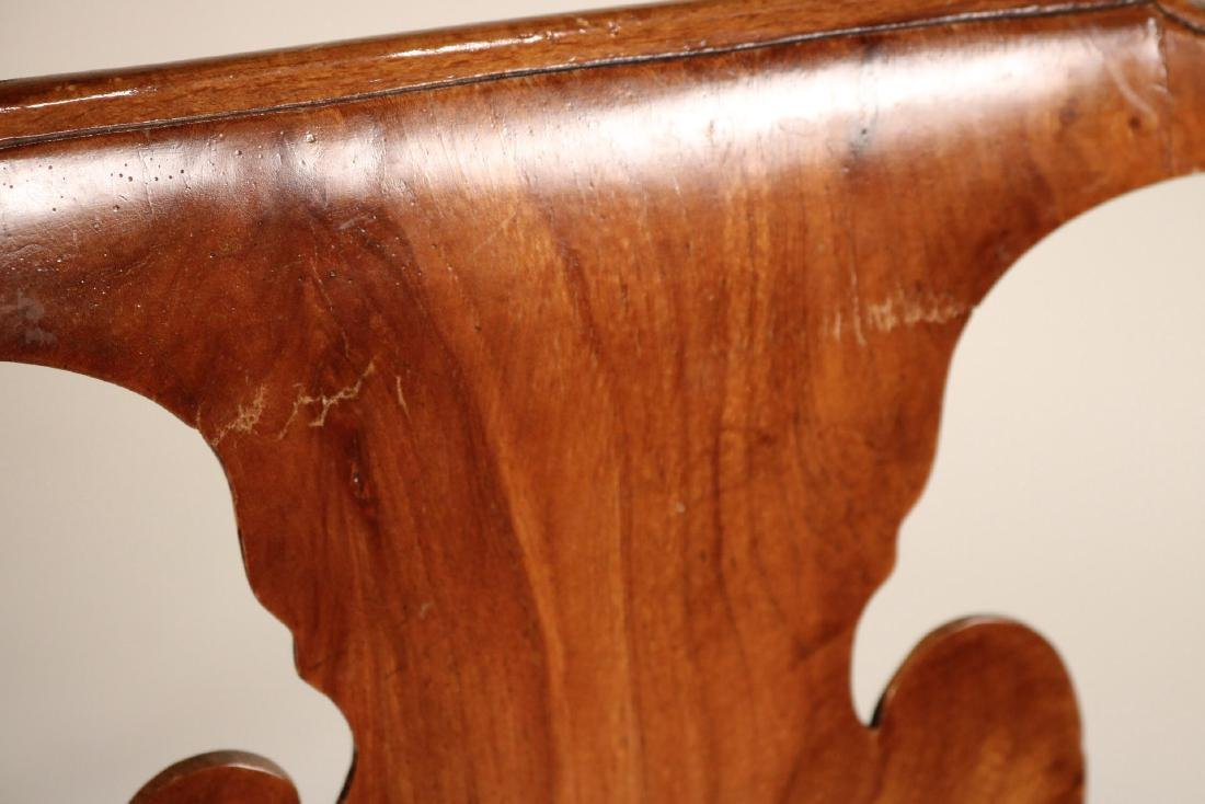 Ten Queen Anne Style Burlwood Dining Chairs - 8