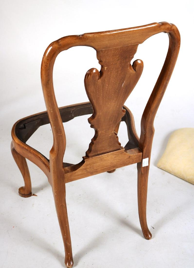 Ten Queen Anne Style Burlwood Dining Chairs - 9