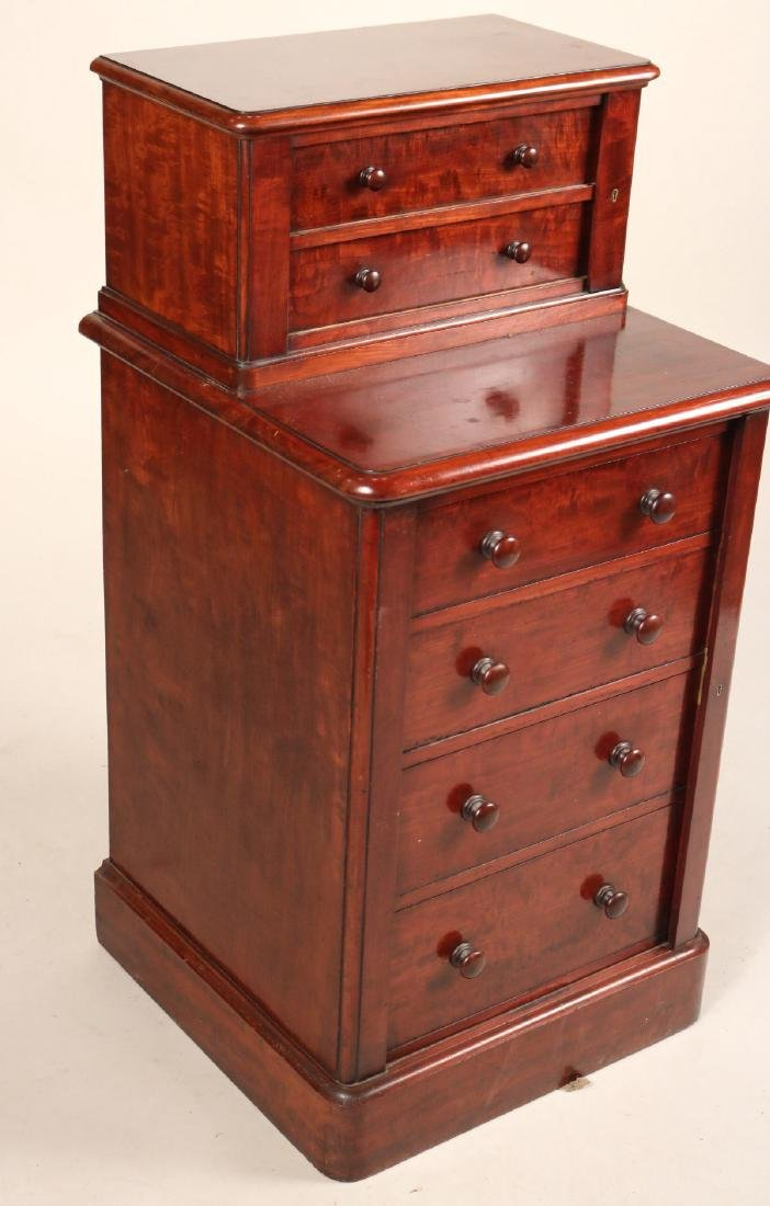 Victorian Mahogany Diminutive Step Back Cabinet - 2