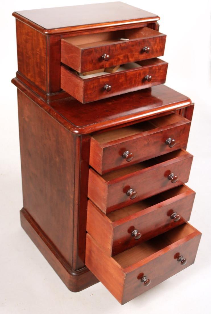 Victorian Mahogany Diminutive Step Back Cabinet - 3