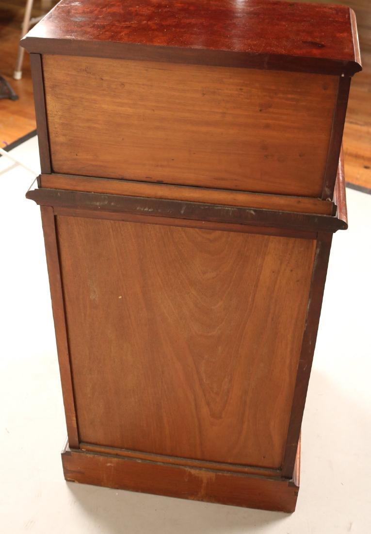 Victorian Mahogany Diminutive Step Back Cabinet - 5