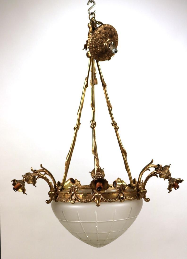Louis XVI Style Gilt-Metal Six-Light Chandelier - 2