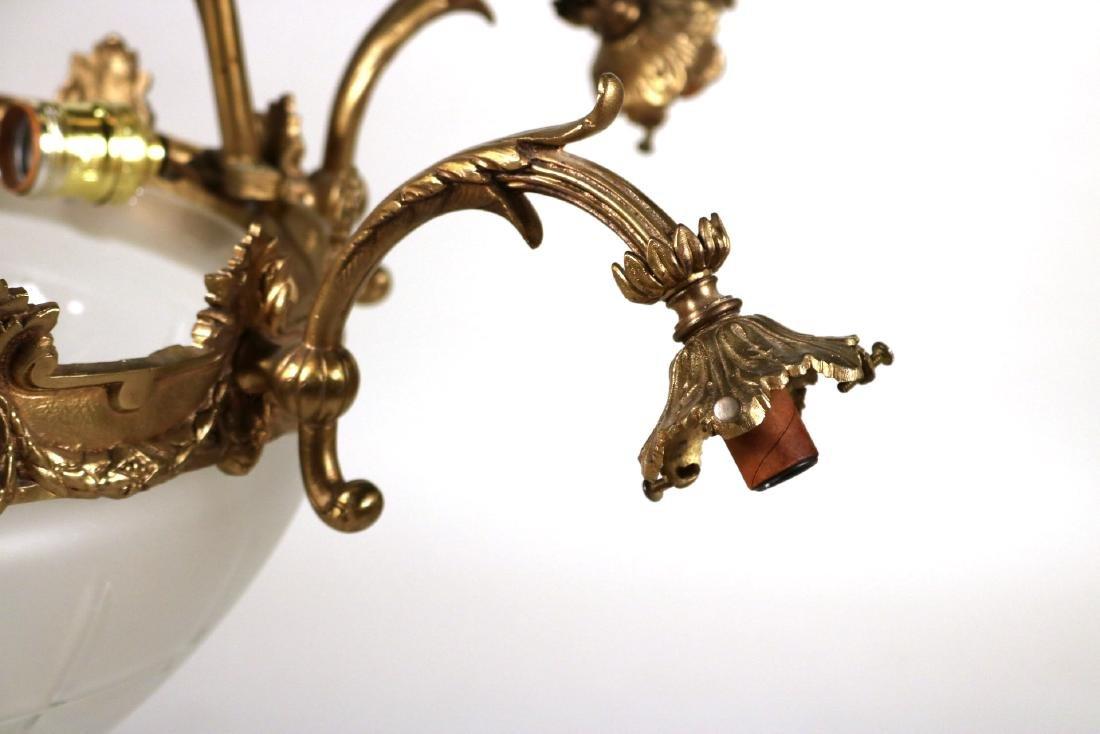 Louis XVI Style Gilt-Metal Six-Light Chandelier - 3