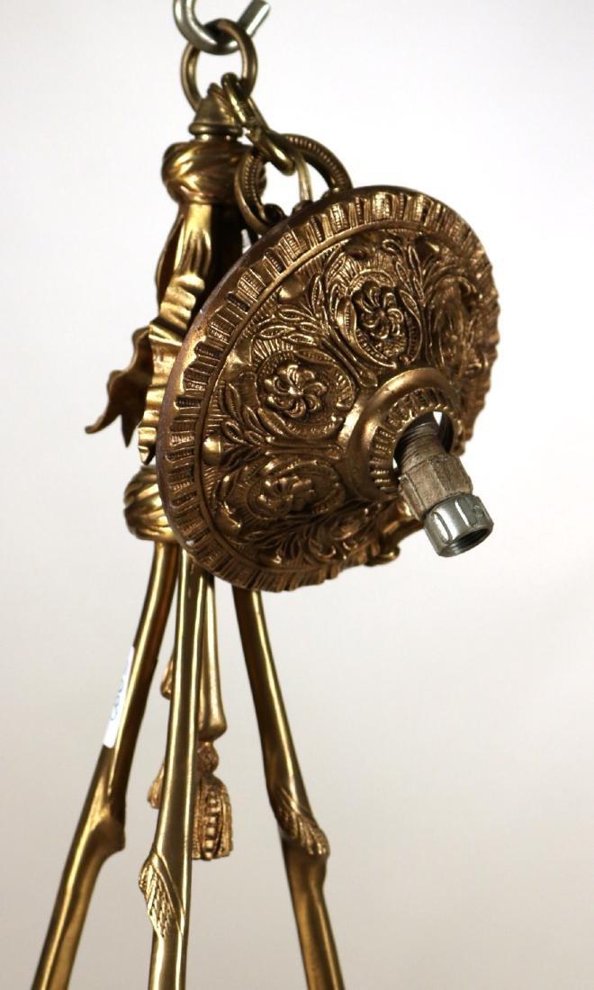 Louis XVI Style Gilt-Metal Six-Light Chandelier - 5