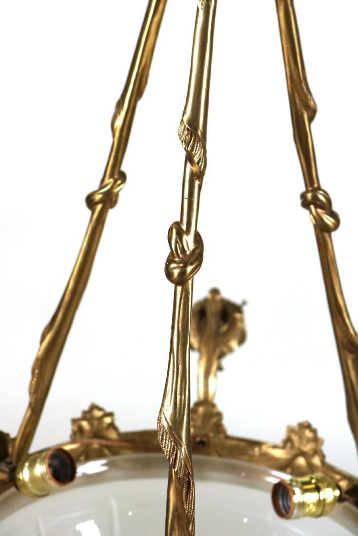Louis XVI Style Gilt-Metal Six-Light Chandelier - 6
