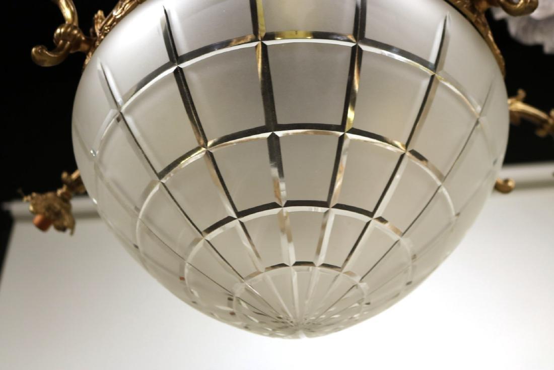 Louis XVI Style Gilt-Metal Six-Light Chandelier - 7