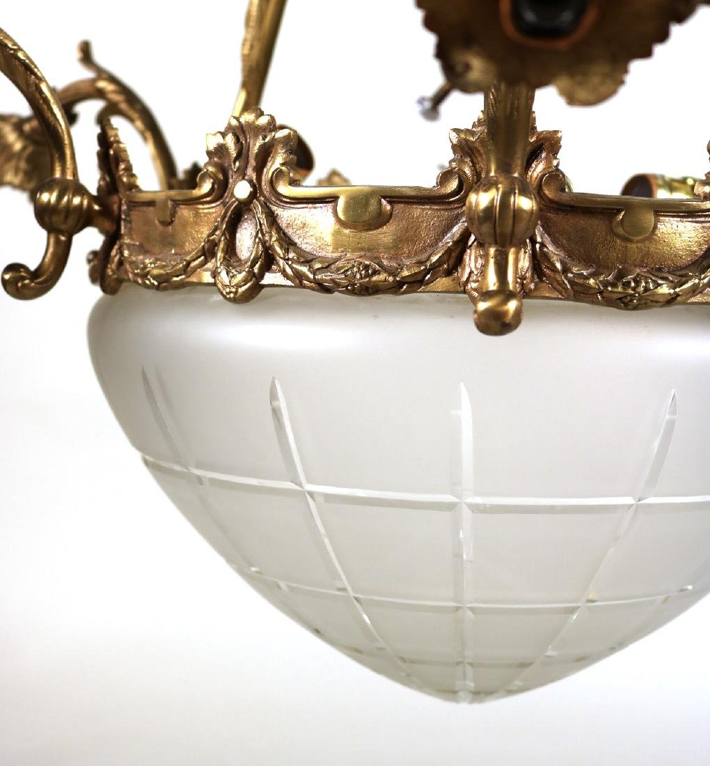 Louis XVI Style Gilt-Metal Six-Light Chandelier - 8