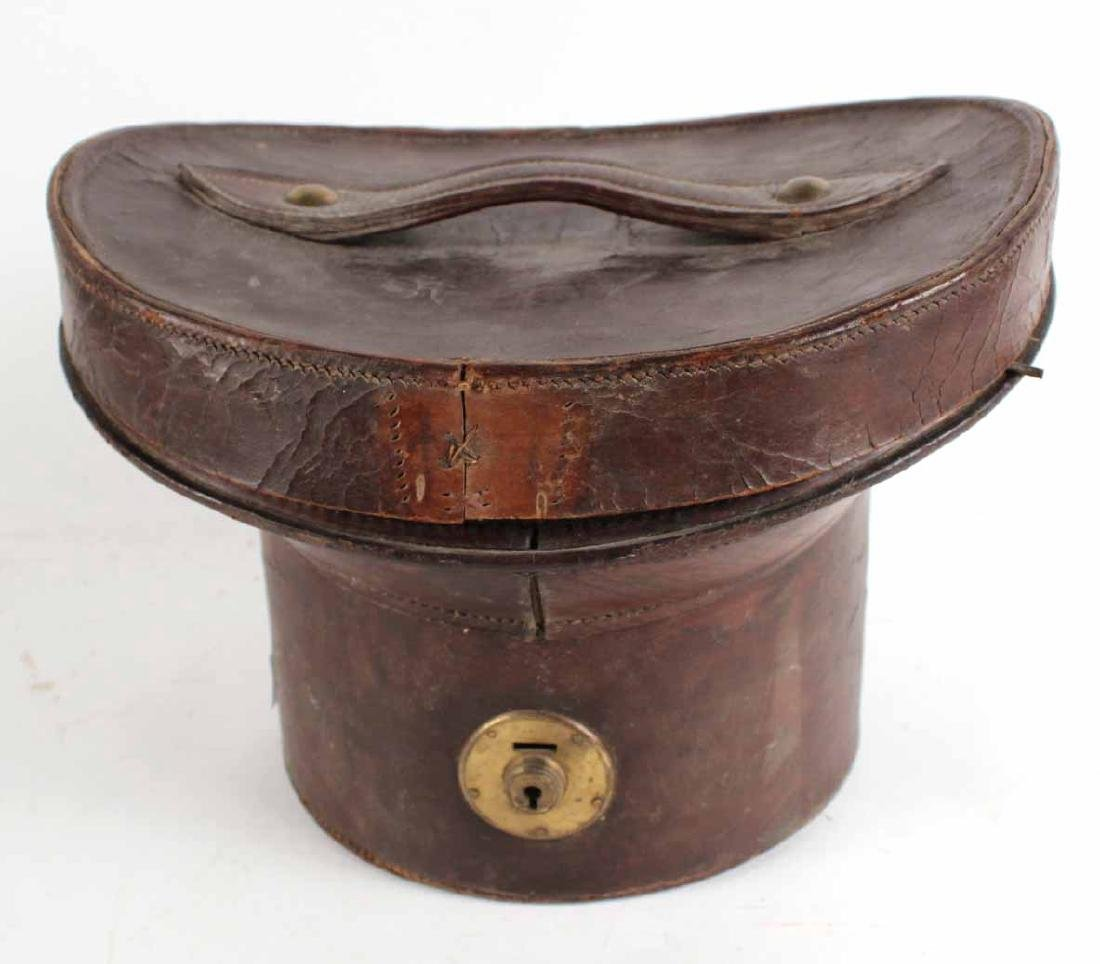 Leather Top Hat Box - 2