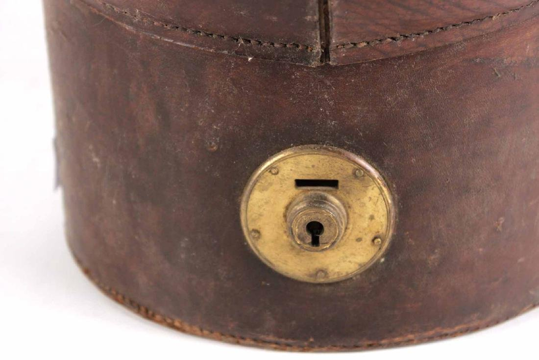 Leather Top Hat Box - 3
