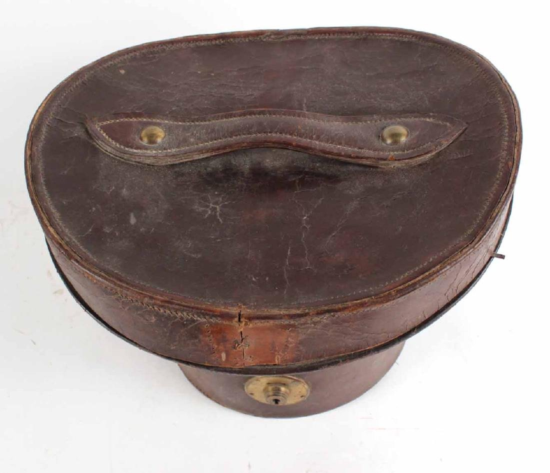 Leather Top Hat Box - 4