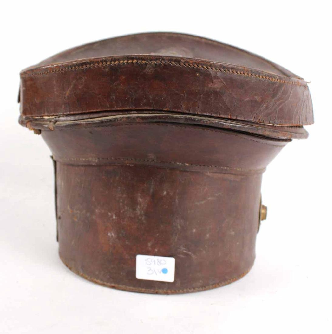 Leather Top Hat Box - 5