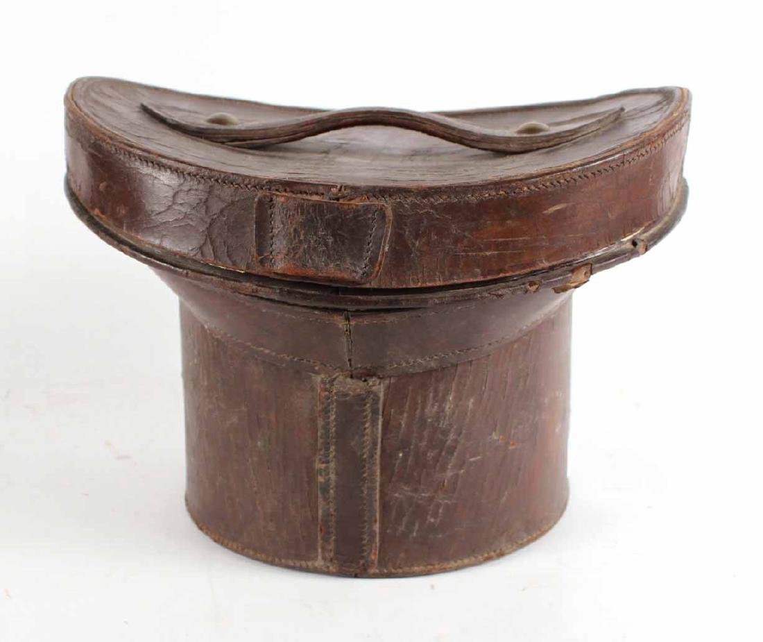 Leather Top Hat Box - 6