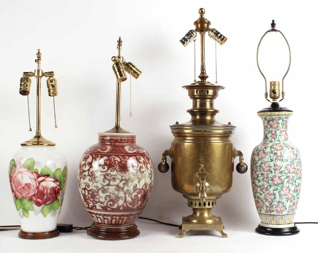 Brass Samovar Fitted as a Lamp