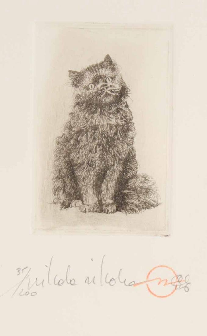 Cecil Aldin Print of Hooded Cat with Basket - 2