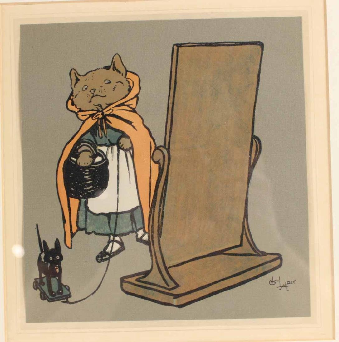 Cecil Aldin Print of Hooded Cat with Basket - 5