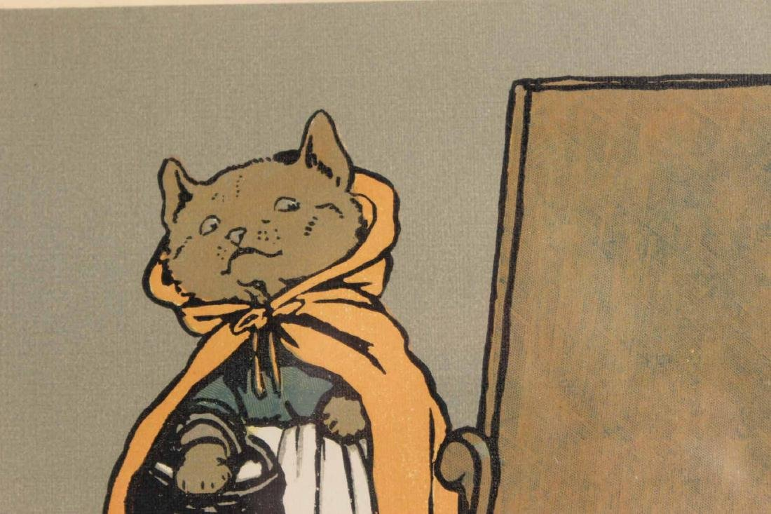 Cecil Aldin Print of Hooded Cat with Basket - 7
