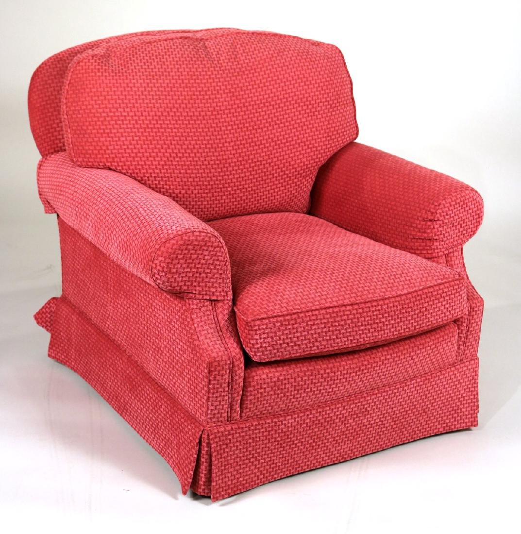 Pair of Pink-Upholstered Club Chairs - 2