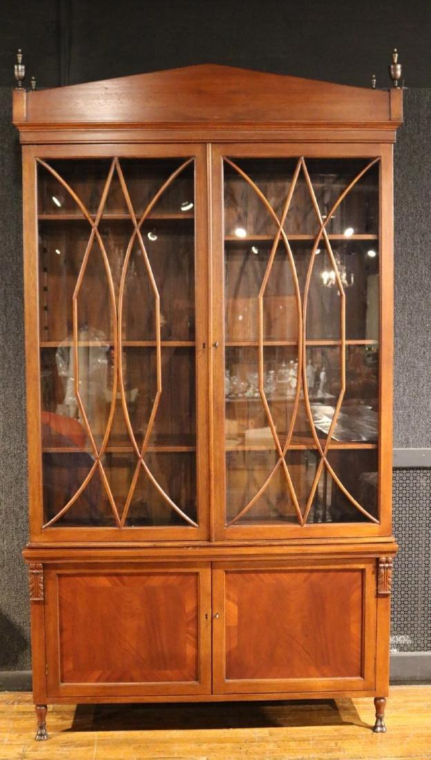 Regency Style Mahogany Bookcase Cabinet