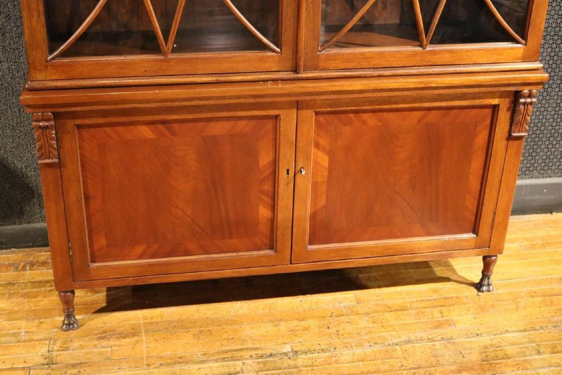 Regency Style Mahogany Bookcase Cabinet - 2