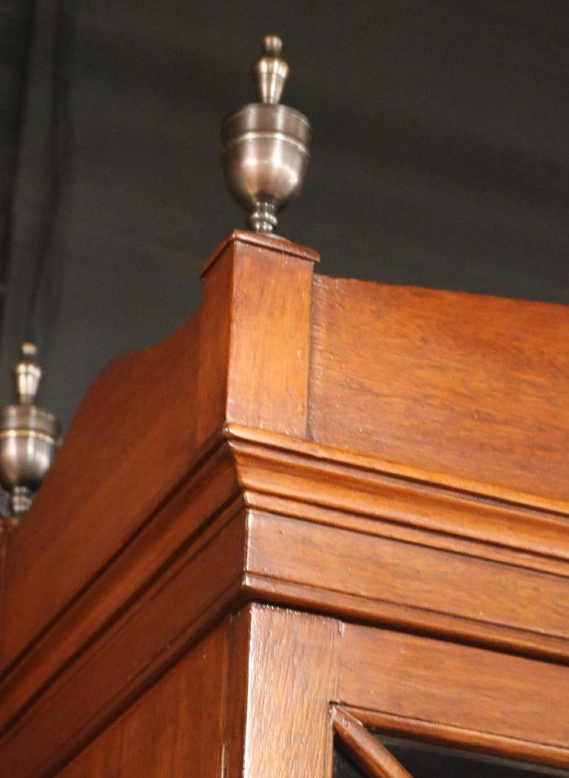 Regency Style Mahogany Bookcase Cabinet - 3