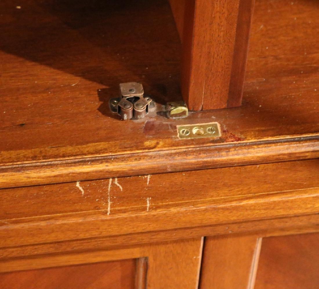 Regency Style Mahogany Bookcase Cabinet - 5