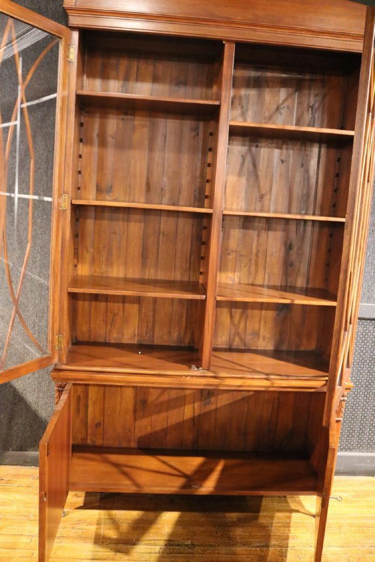 Regency Style Mahogany Bookcase Cabinet - 6