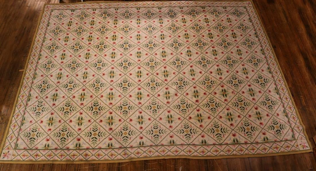 Needlework Floral Decorated Carpet