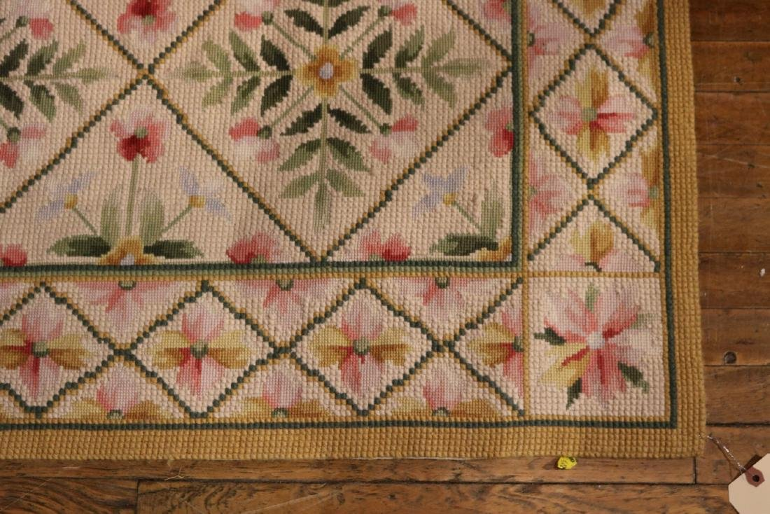 Needlework Floral Decorated Carpet - 2