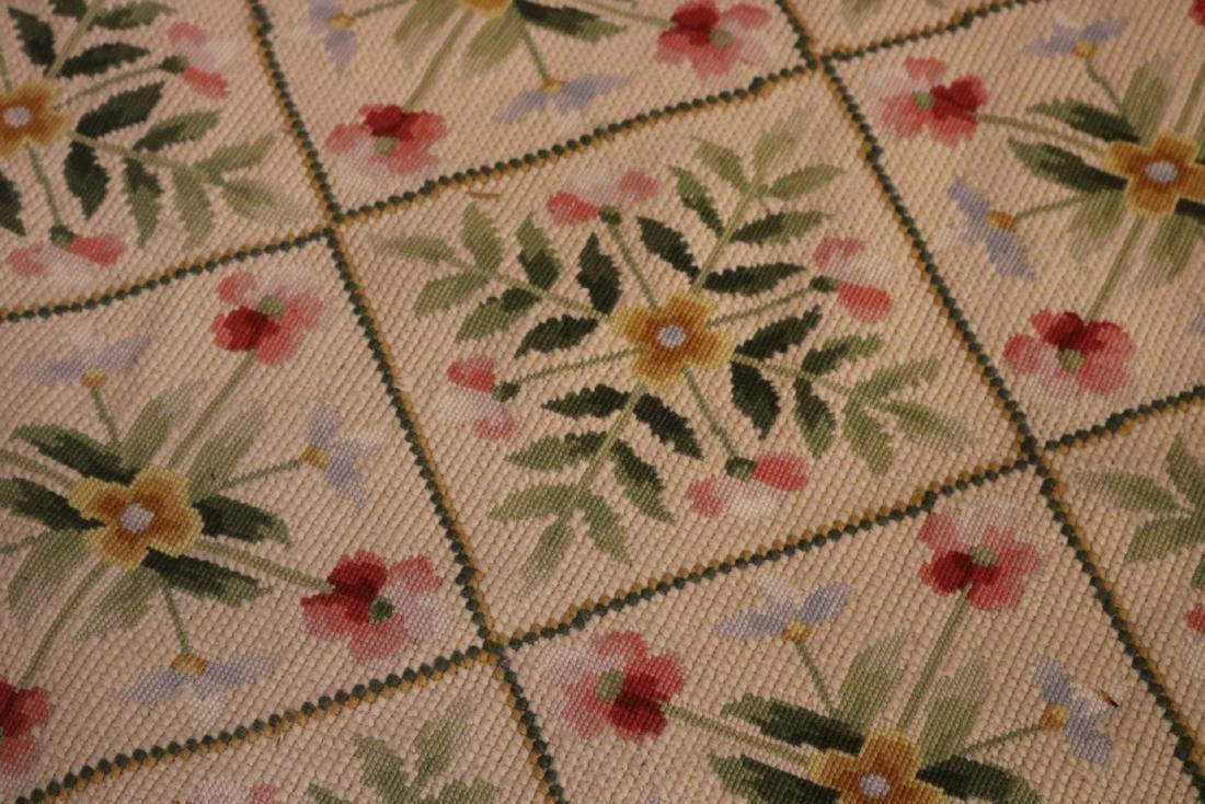 Needlework Floral Decorated Carpet - 3