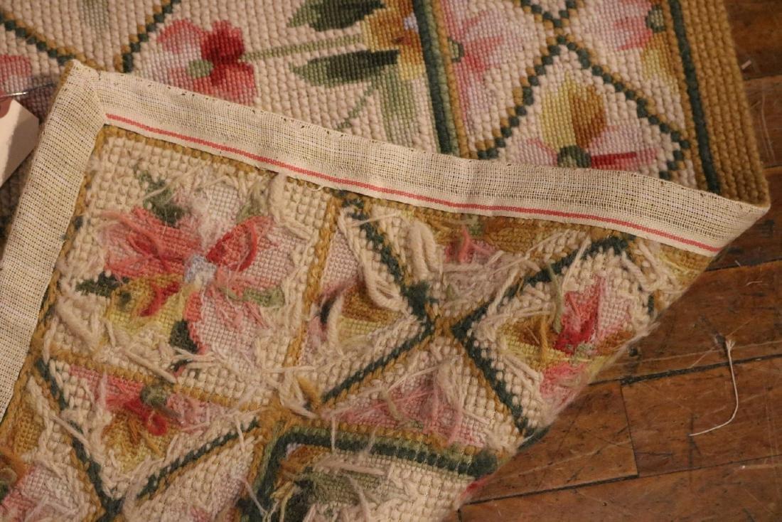 Needlework Floral Decorated Carpet - 4