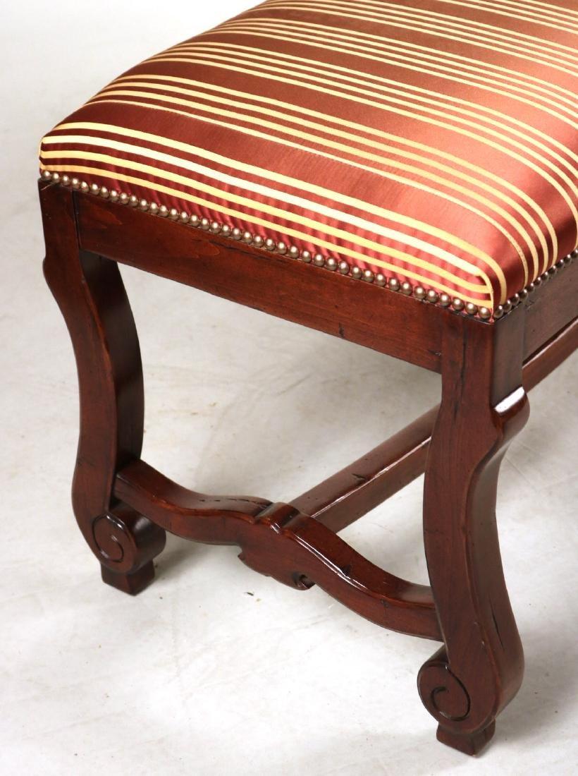 Baroque Style Mahogany Window Seat - 2