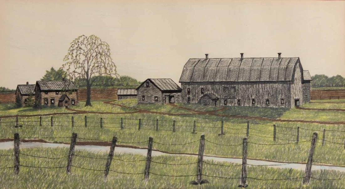 Drawing, Farm Landscape - 2
