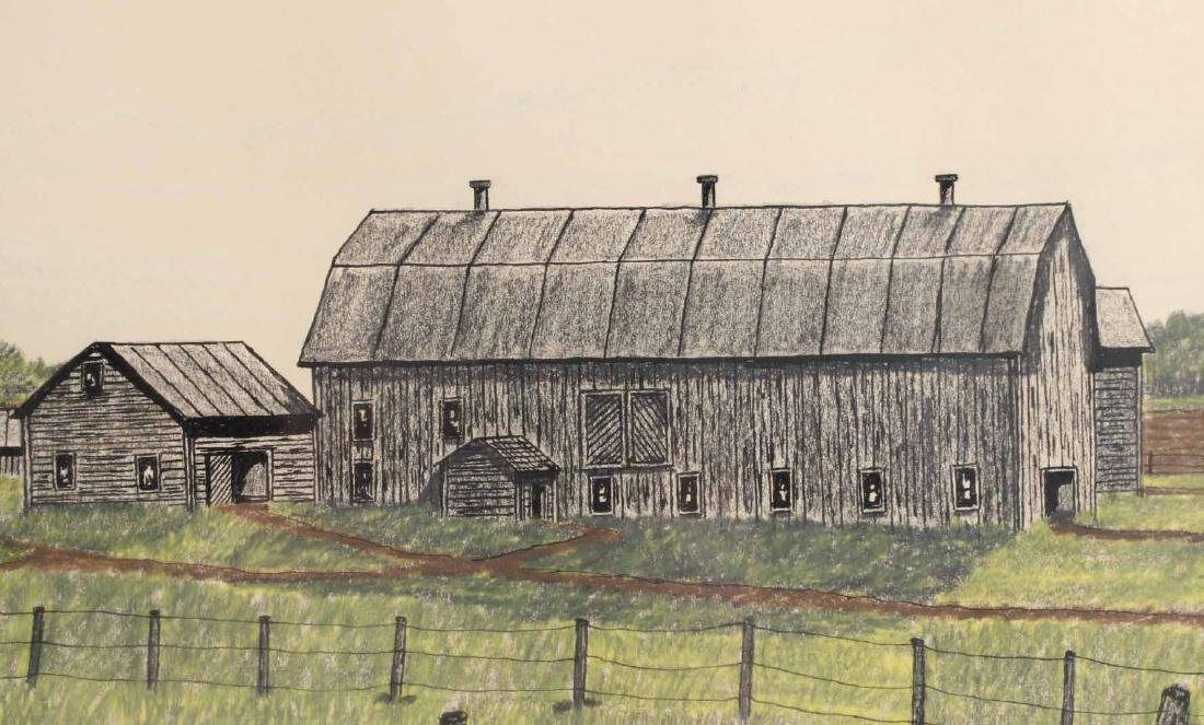 Drawing, Farm Landscape - 3