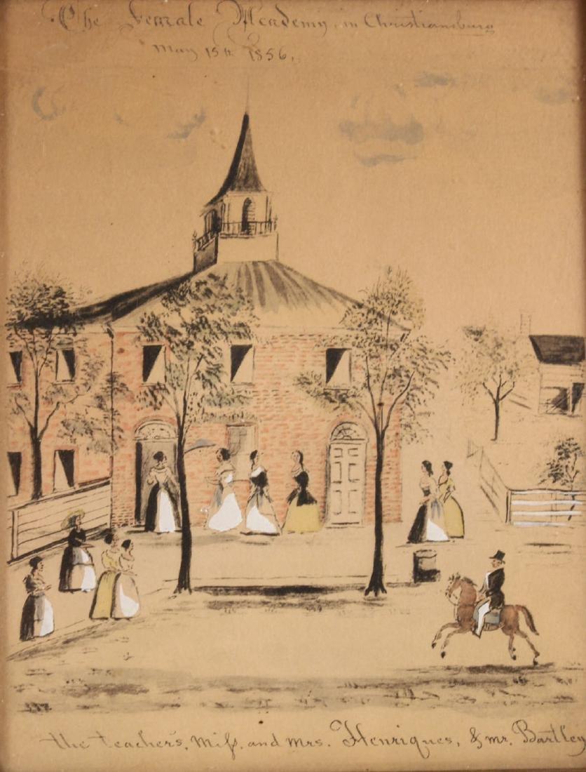 Pair of Hand-Painted Prints of Christiansburg, VA - 2