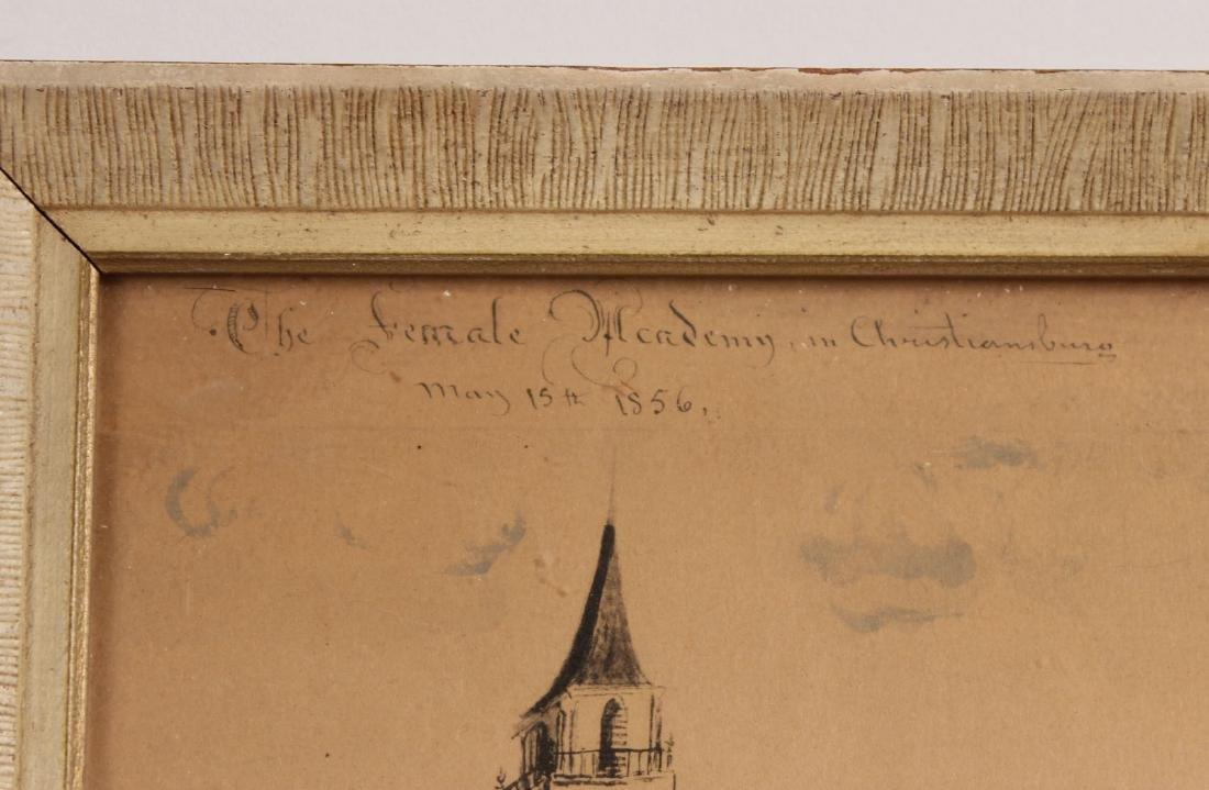 Pair of Hand-Painted Prints of Christiansburg, VA - 4