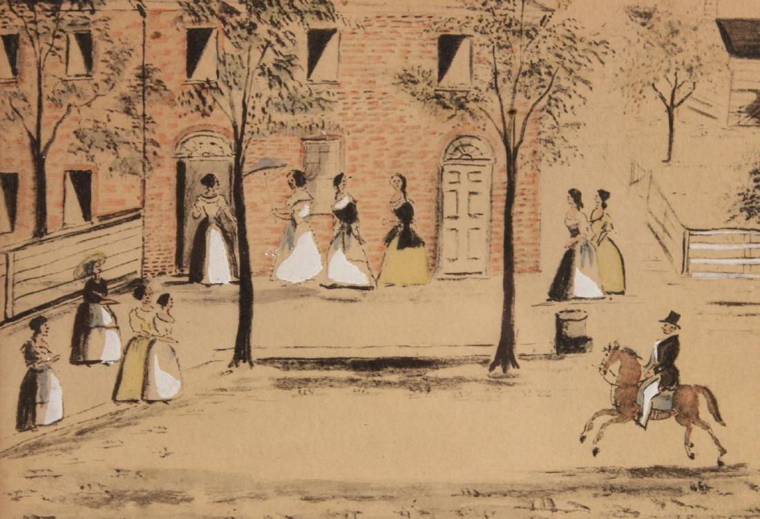 Pair of Hand-Painted Prints of Christiansburg, VA - 5