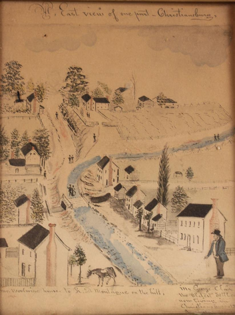 Pair of Hand-Painted Prints of Christiansburg, VA - 6