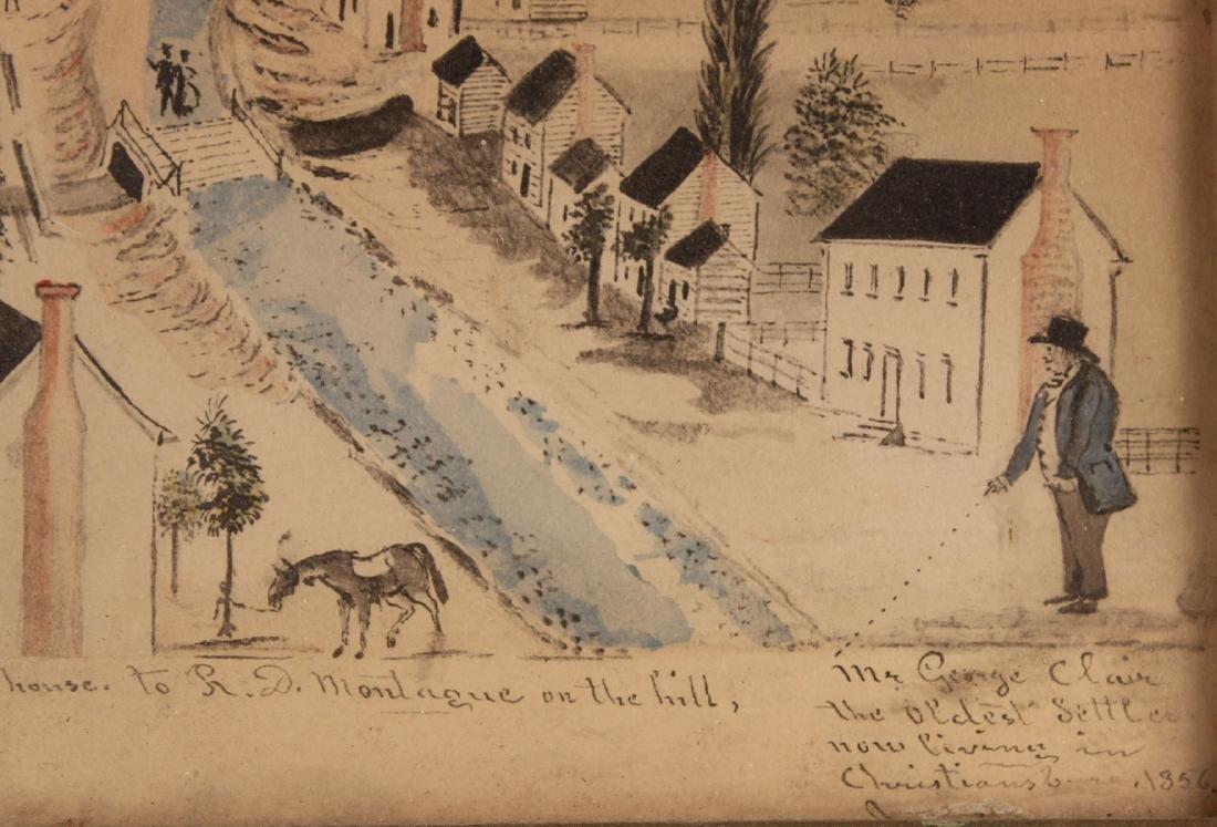 Pair of Hand-Painted Prints of Christiansburg, VA - 7