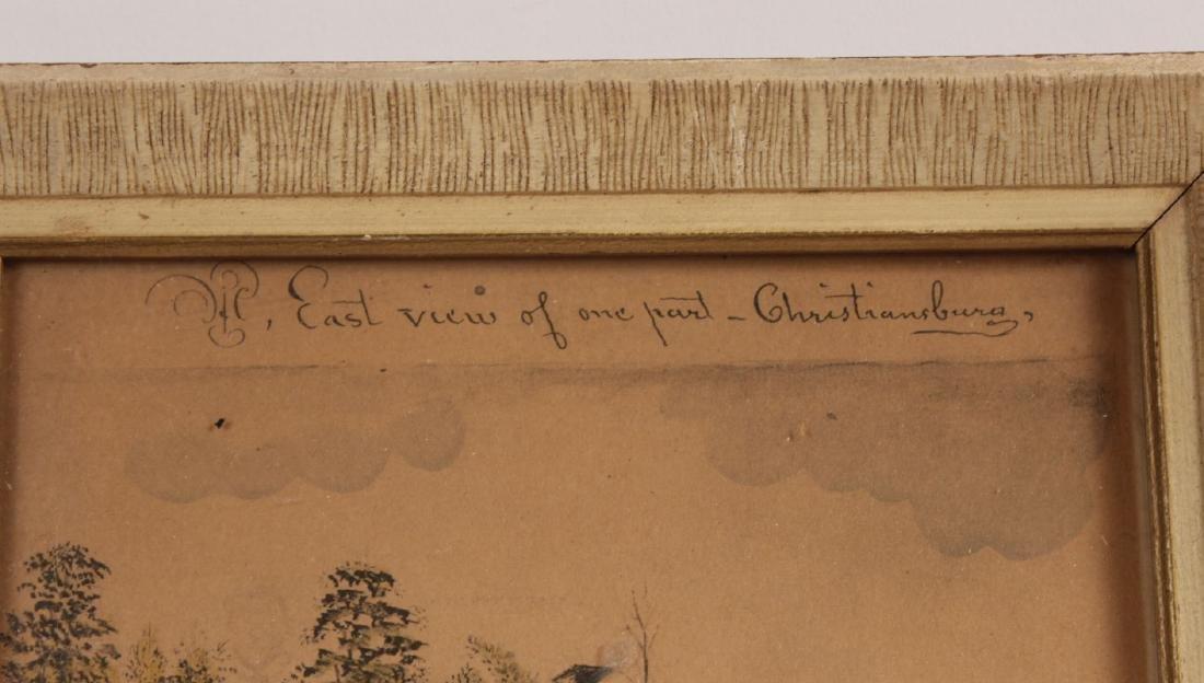 Pair of Hand-Painted Prints of Christiansburg, VA - 8
