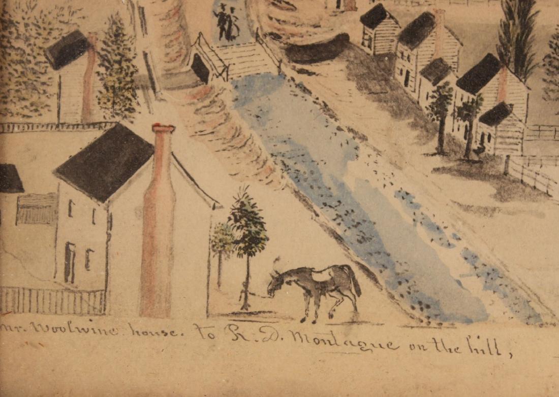 Pair of Hand-Painted Prints of Christiansburg, VA - 9