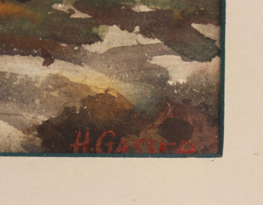 Watercolor, Hillside Cottages, Henry Gasser - 3