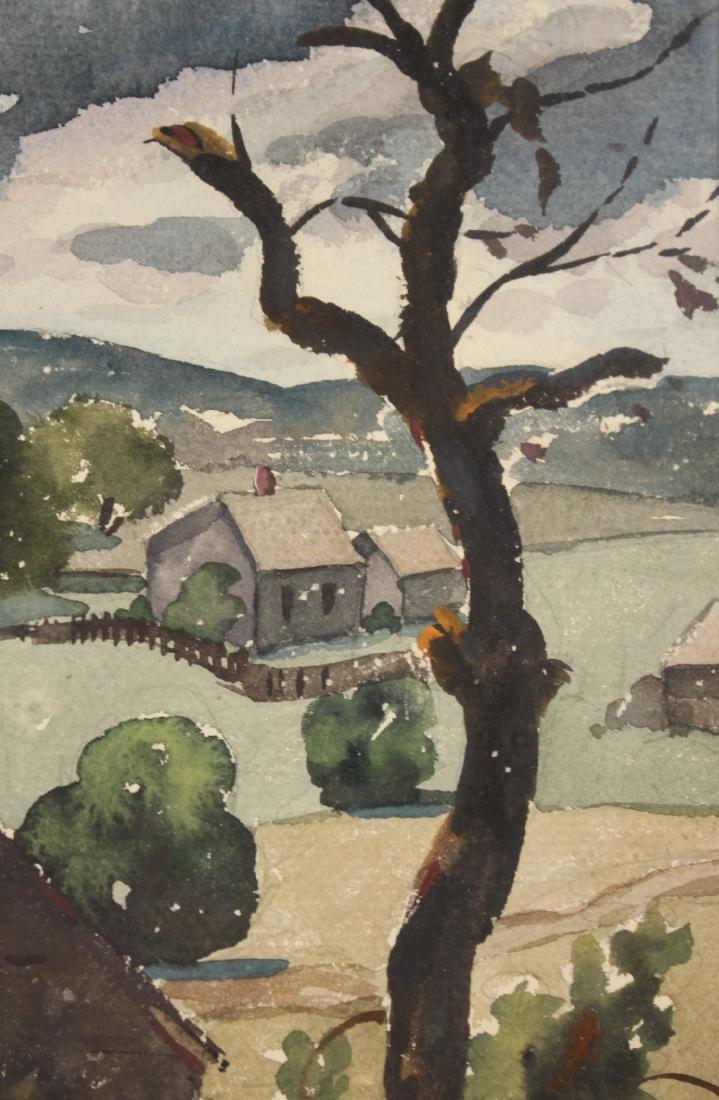 Watercolor, Hillside Cottages, Henry Gasser - 4