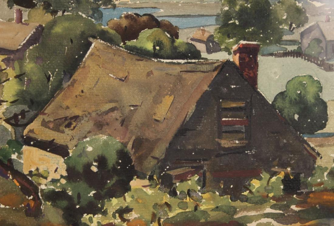 Watercolor, Hillside Cottages, Henry Gasser - 5