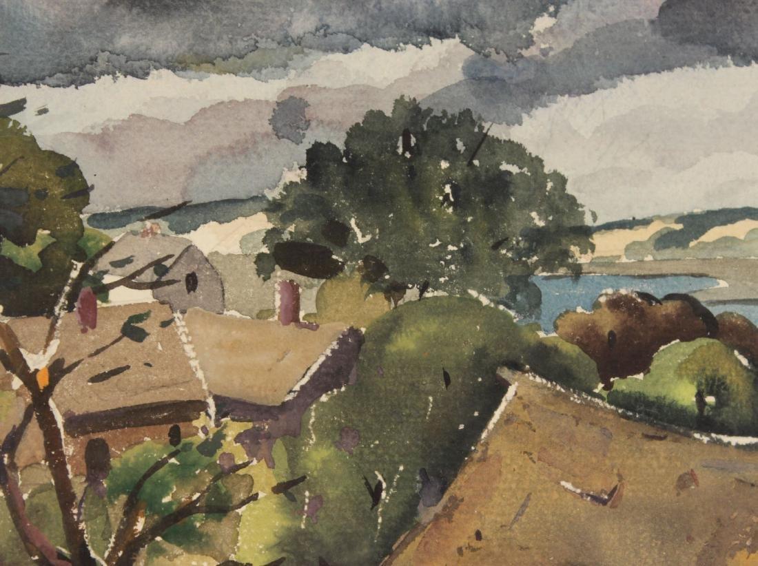 Watercolor, Hillside Cottages, Henry Gasser - 6