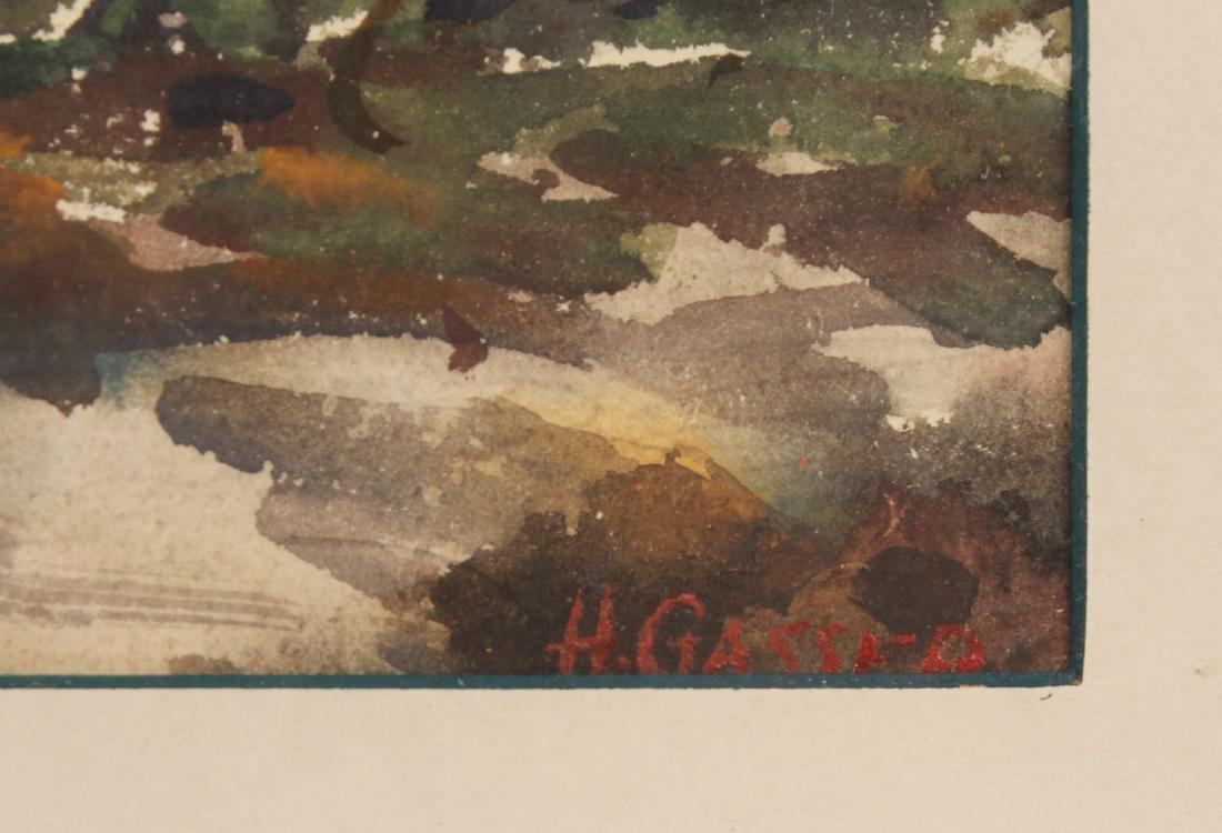 Watercolor, Hillside Cottages, Henry Gasser - 7