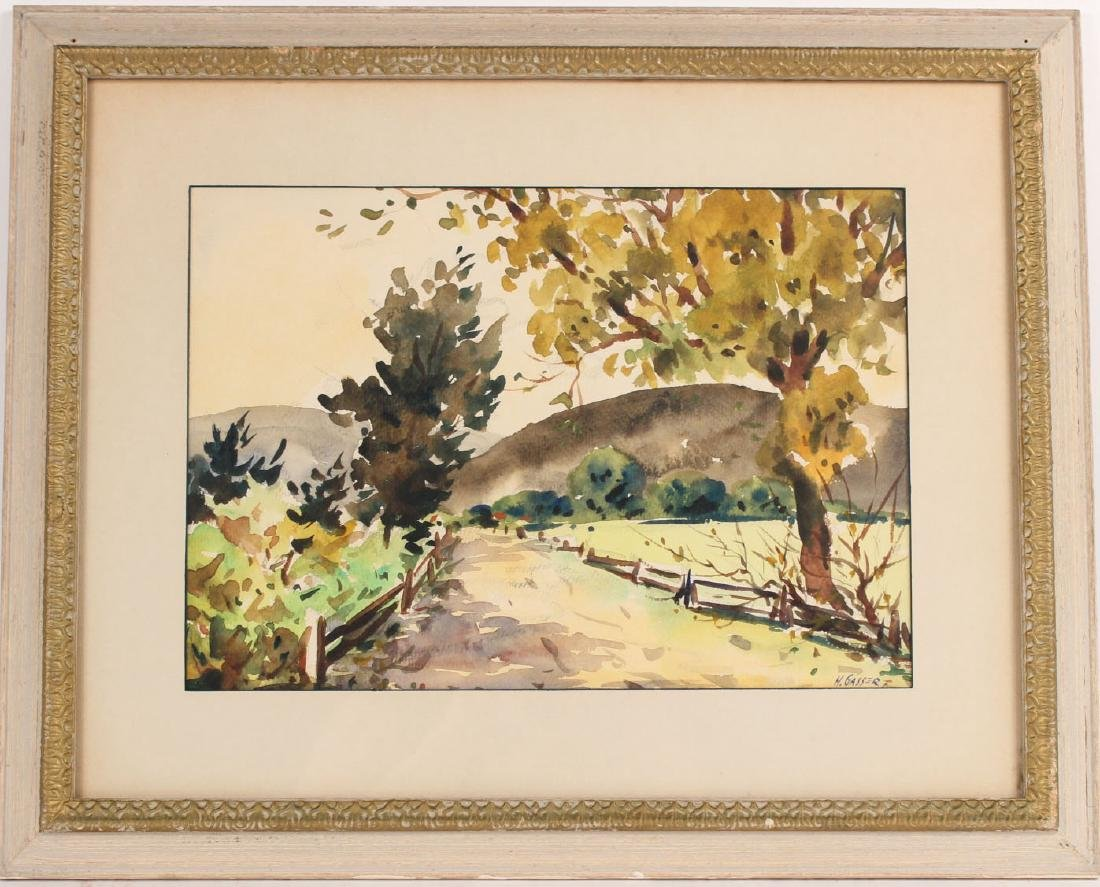Watercolor on Paper, Country Road, Henry Gasser