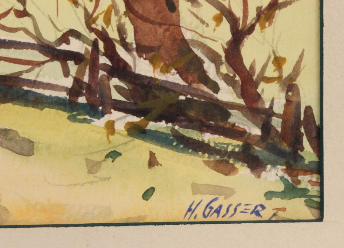 Watercolor on Paper, Country Road, Henry Gasser - 3