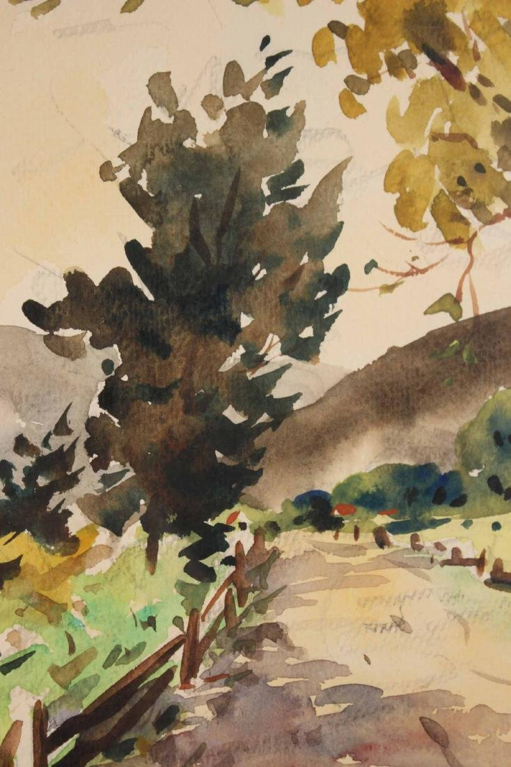 Watercolor on Paper, Country Road, Henry Gasser - 4
