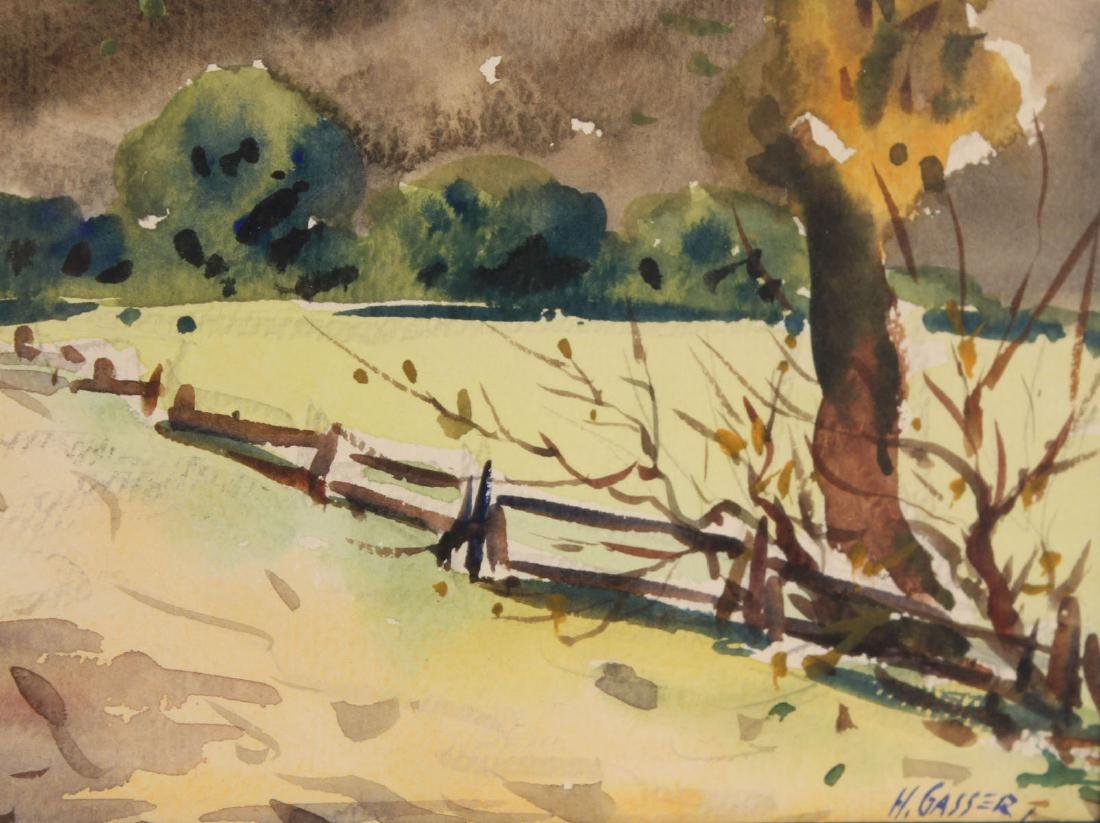 Watercolor on Paper, Country Road, Henry Gasser - 6